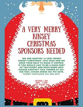 Kinsey : A Very Merry Kinsey Christmas Sponsors Needed