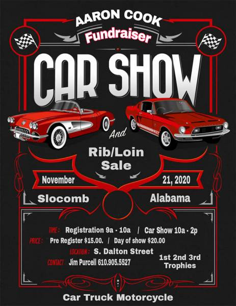 Slocomb Police Officer Aaron Cook Fundraiser/Car Show