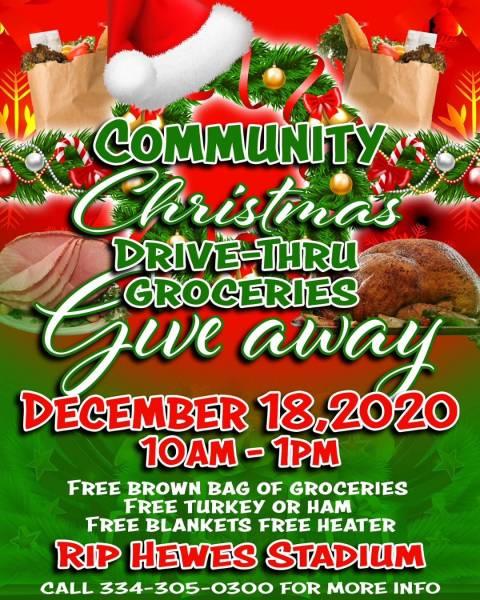 Community Christmas Drive-Thru Groceries