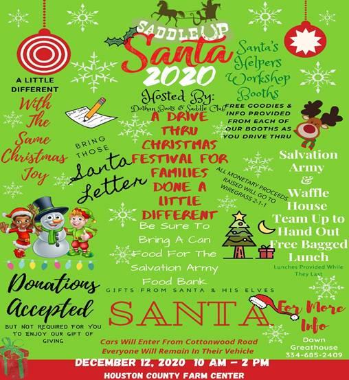 Drive-Through Saddle Up Santa Event is Saturday, December 12th