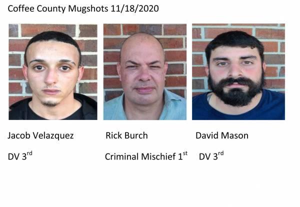 Coffee County Mugshots 11/18/2020