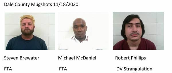 Dale County Mugshots 11/18/2020