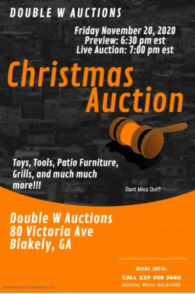 Christmas Auction Today in Blakely