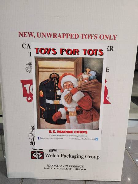 Toys for Tots Collecting TODAY