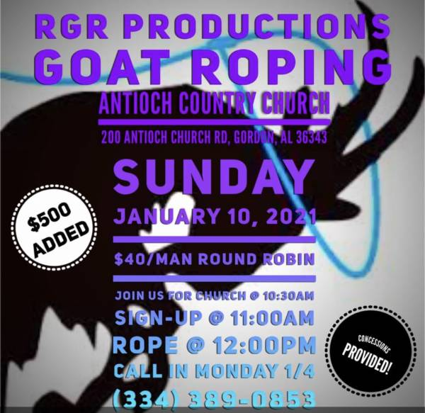 Antioch Country Church Having a Goat Roping Event