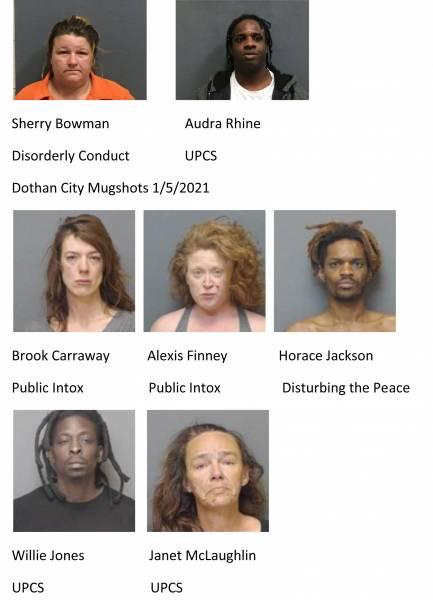 Houston County / Dothan City Mugshots 1/5/2021