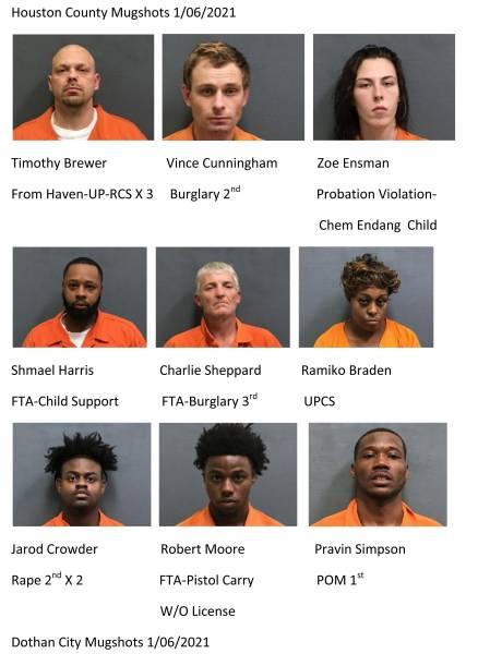 Houston County / Dothan City Mugshots 1/06/2021