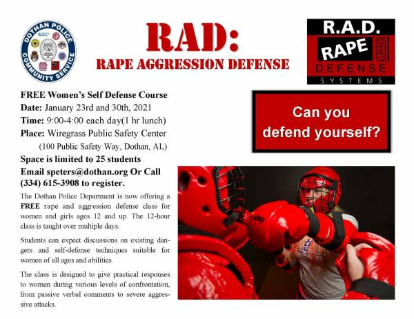 RAD Class Set for January 23rd and 30th