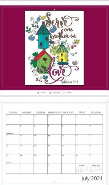 2021 Christian Calendar