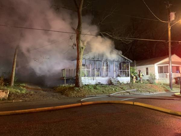 UPDATED at 8:00 PM... Structure Fire at 708 Shirley Street
