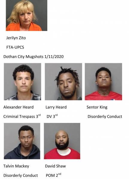 Houston County / Dothan City Mugshots 1/11/2021