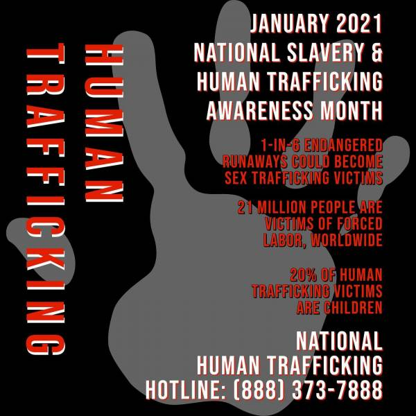 National Slavery and Human Trafficking Awareness Month