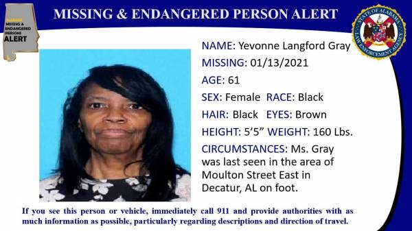 UPDATED at 2:03 PM... Missing Person Alert