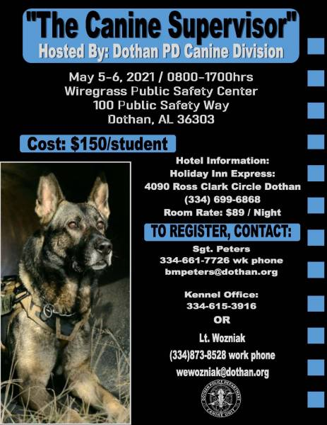 The Canine Supervisor Training Set for May