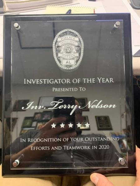 Congratulations To Dothan Police Investigator Of The Year