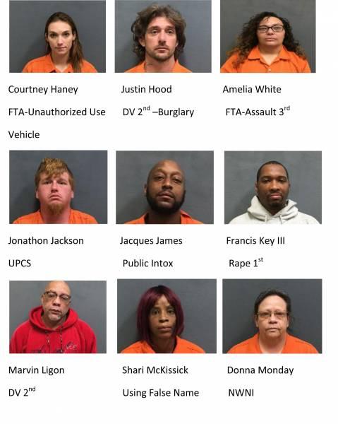 Houston County Weekend Mugshots 1/15/2021-1/17/2021
