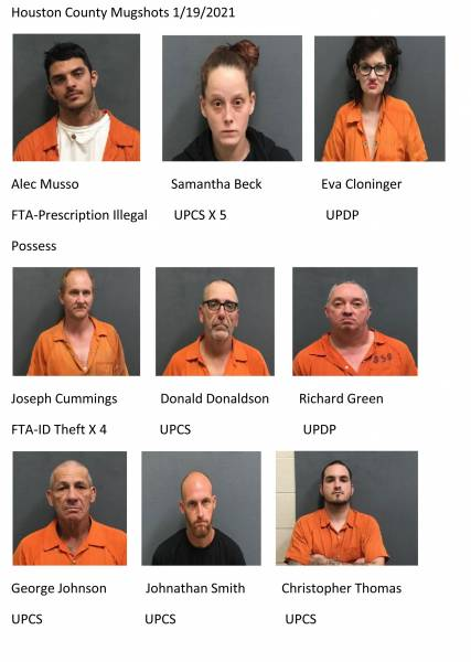 Houston County Mugshots 1/19/2021