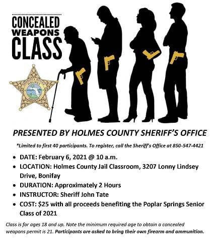 HCSO OFFERS CONCEALED WEAPON CLASS