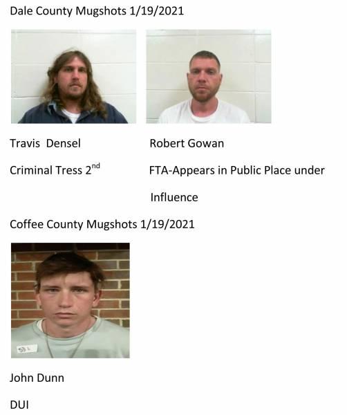 Dale County/Coffee County Mugshots 1/19/2021