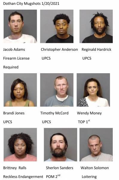 Dothan City / Houston County Mugshots 1/20/2021