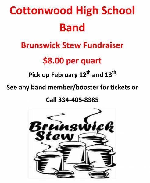 Cottonwood High School Band Brunswick Stew Fundraiser