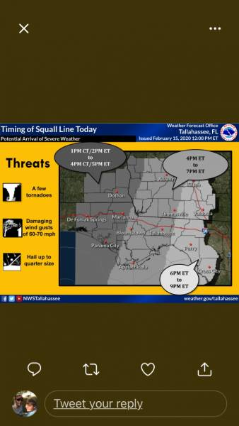 Severe Weather threat for today has increased