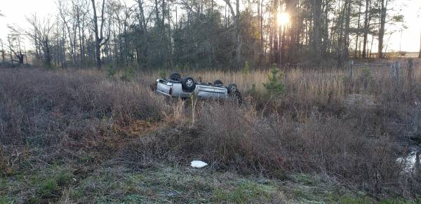 6:30 AM... Vehicle Overturned on Hwy 52 at Smith Road