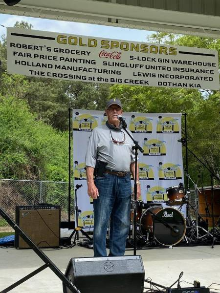 Houston County District 2 Commissioner Doug Sinquefield spoke at the Taylor Made Festival