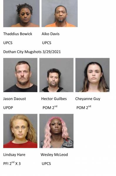Houston County / Dothan City Mugshots 3/29/2020