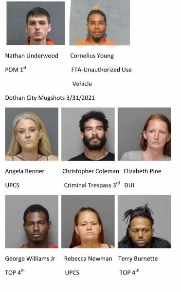 Houston County / Dothan City Mugshots 3/31/2020