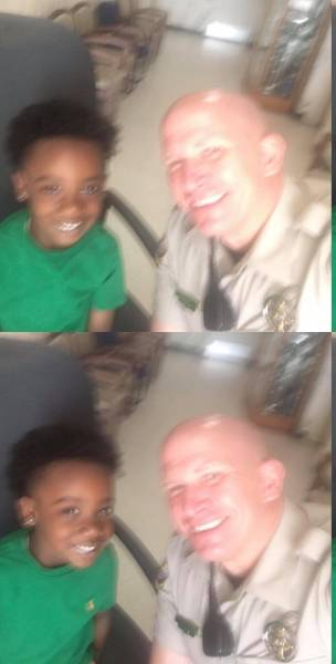 Houston County Sheriff Deputy Jason Weed Puts Smile On Face Of Young Man Dee Ward  - But Dee Does Same For Weed