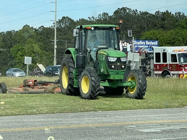 Ross Clark Circle Grass Being Cut
