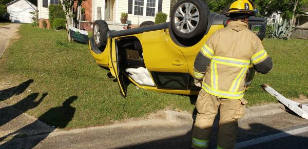 4:56 PM...Two Vehicle Accident with Rollover in the 900 block of Cottonwood Road