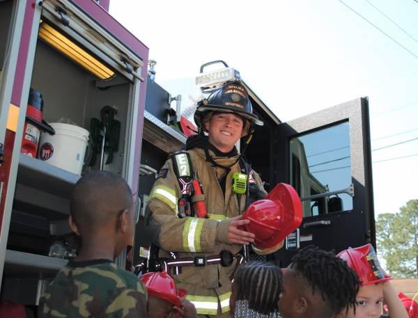 Opelike Fire' A-Shift Engine 2 Stopped by God's Child Development