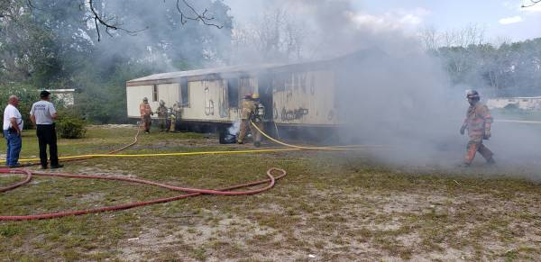UPDATED at 7:50 PM... WORKING STRUCTURE FIRE - Weeks Trailer Park Ashford