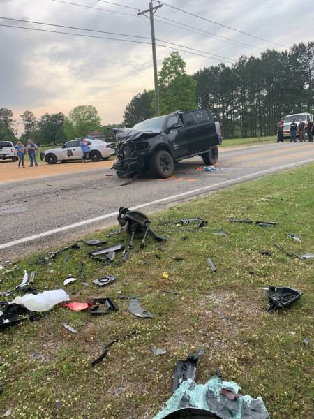 UPDATED @ 10:29 PM With Scene Pictures  4:28 PM.  Two Vehicle Rehobeth Accident - Four Ambulances Two Dothan Fire Paramedic Engines and Two Survival Flight