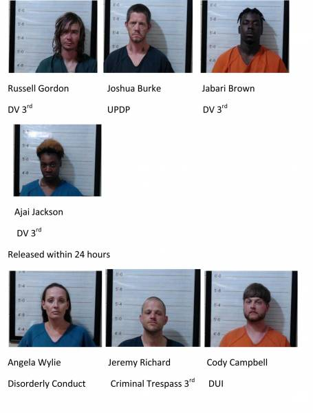 Dale County /Coffee County Weekend Mugshots 4/23/2021-4/25/2021
