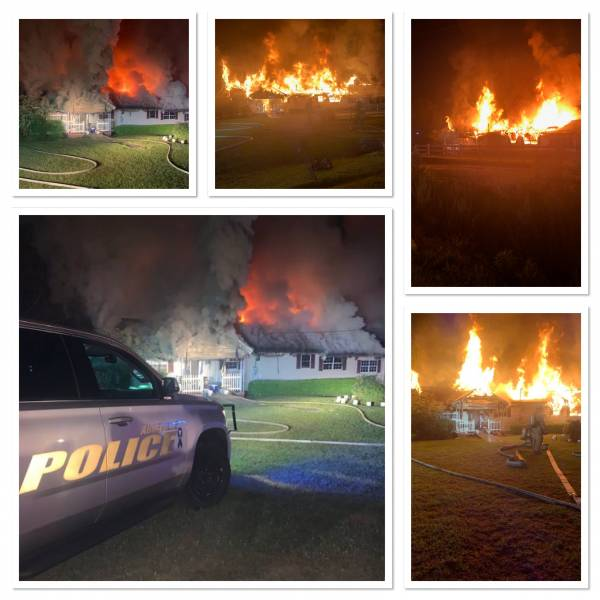 UPDATED @ 11:40 PM.  9:53 PM.  Structure Fire In Abbeville Fully Engulfed - Abbeville Police Save A Life