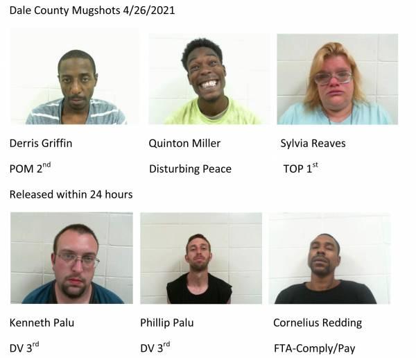 Dale County Mugshots 4/26/2021
