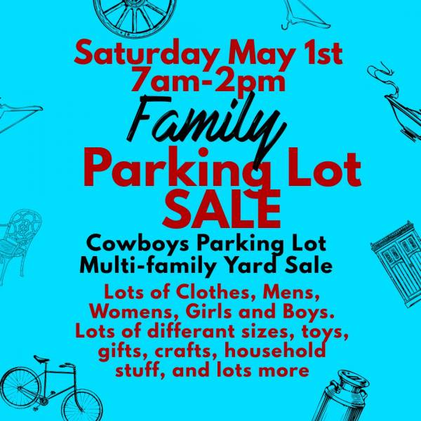 Family Parking Lot Yard Sale