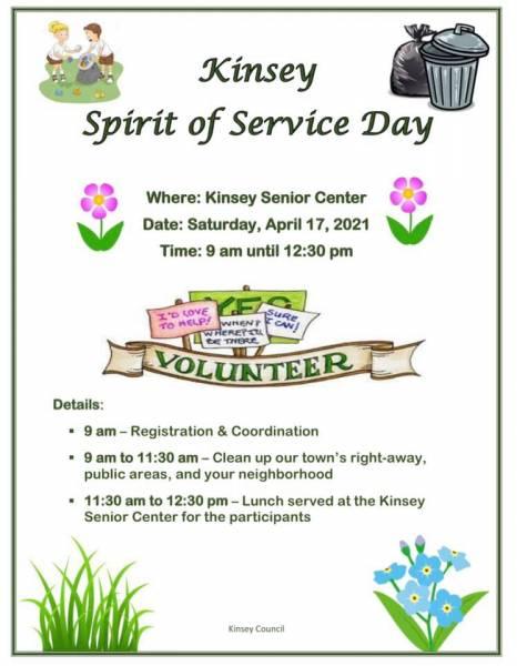 Kinsey Spirit of Service Day Rescheduled