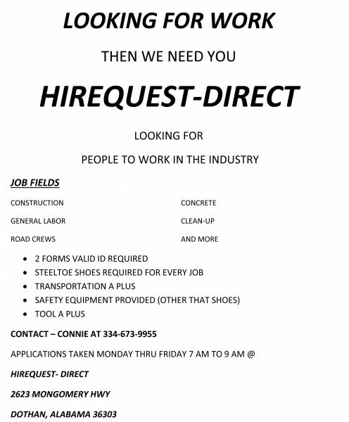 LOOKING FOR WORK ?????