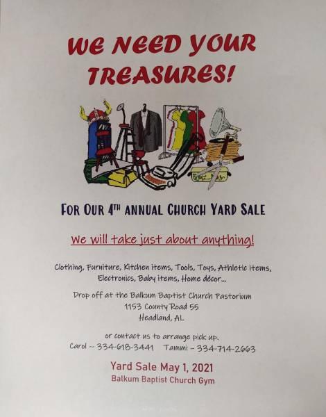 4th Annual Church Yard Sale