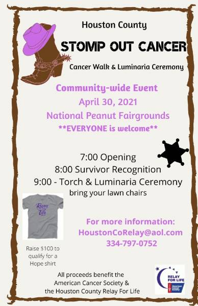 Walk to benefit RELAY FOR LIFE / AMERICAN CANCER SOCIETY