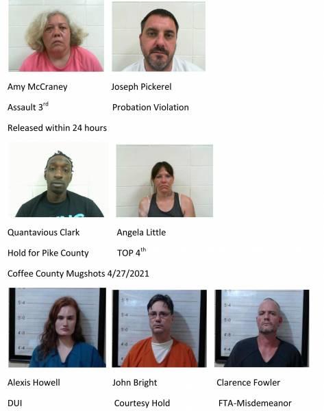 Dale County /Coffee County Mugshots 4/27/2021