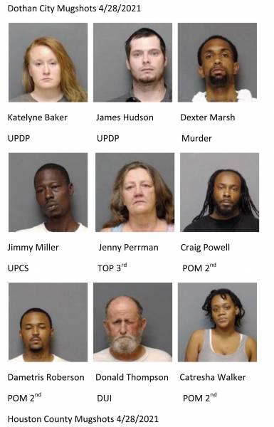 Dothan City /Houston County Mugshots 4/28/2021