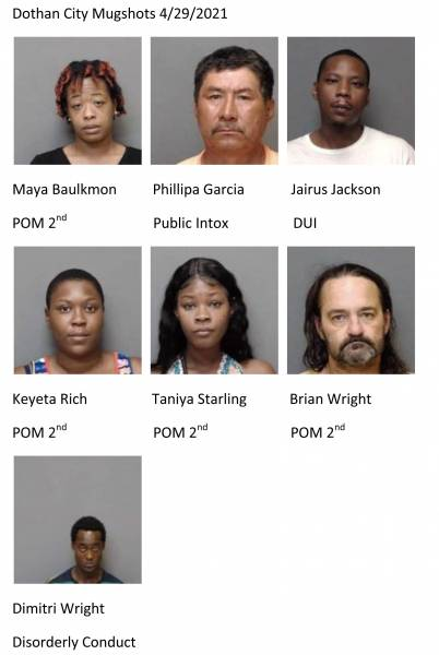 Update 1:15 Houston County Mugshots 4/29/2021 Dothan City Mugshots 4/29/2021