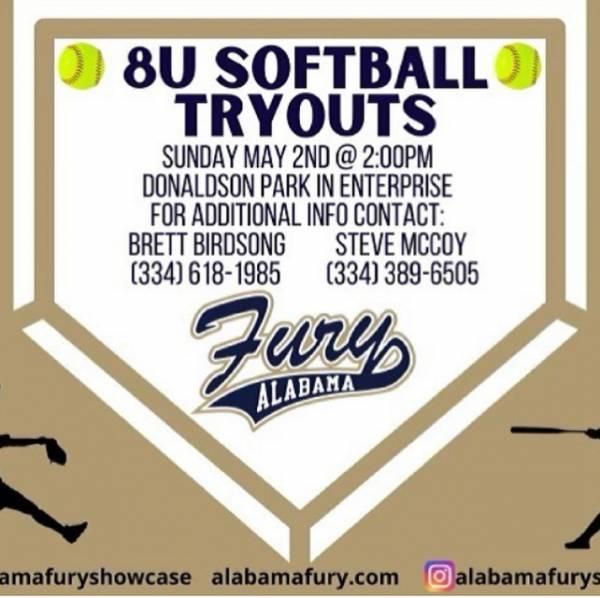 8U Softball tryouts this Sunday!!