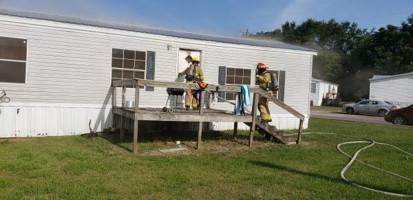 4:40 PM... Working Structure Fire in Bridgewater Bay Trailer Court