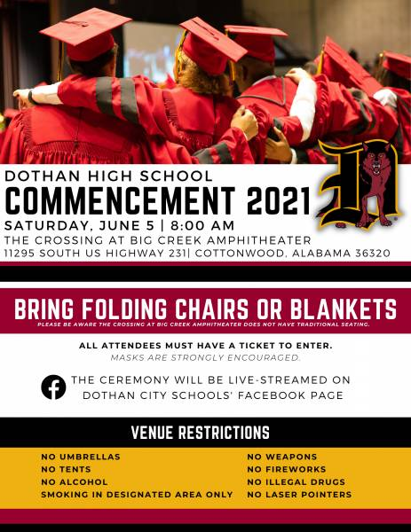 Dothan High School Commencement 2021 Information